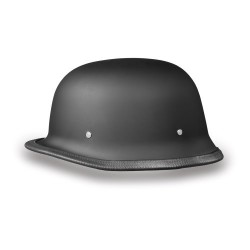 German Style World's Smallest, Lightest DOT Helmet-Matte Black