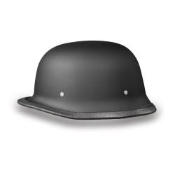 German Style World's Smallest, Lightest DOT Helmet-Matte Black