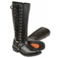 MBL9365 Milwaukee Leather Women's Tall Boots with Side Lacing