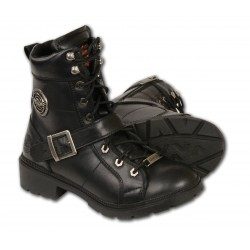 MBL9325 Milwaukee Leather Womens Boots with Lace Front and Zip Closure