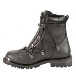 "Milwaukee Leather MBM9075 Diamond Men's 6"" Twin Zipper Lock Riding Boots"