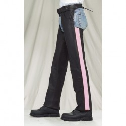 Womens c333-pink-11 Pink Leather Chaps