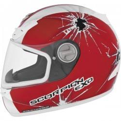 Scorpion EXO-400 Impact Helmet Red/White